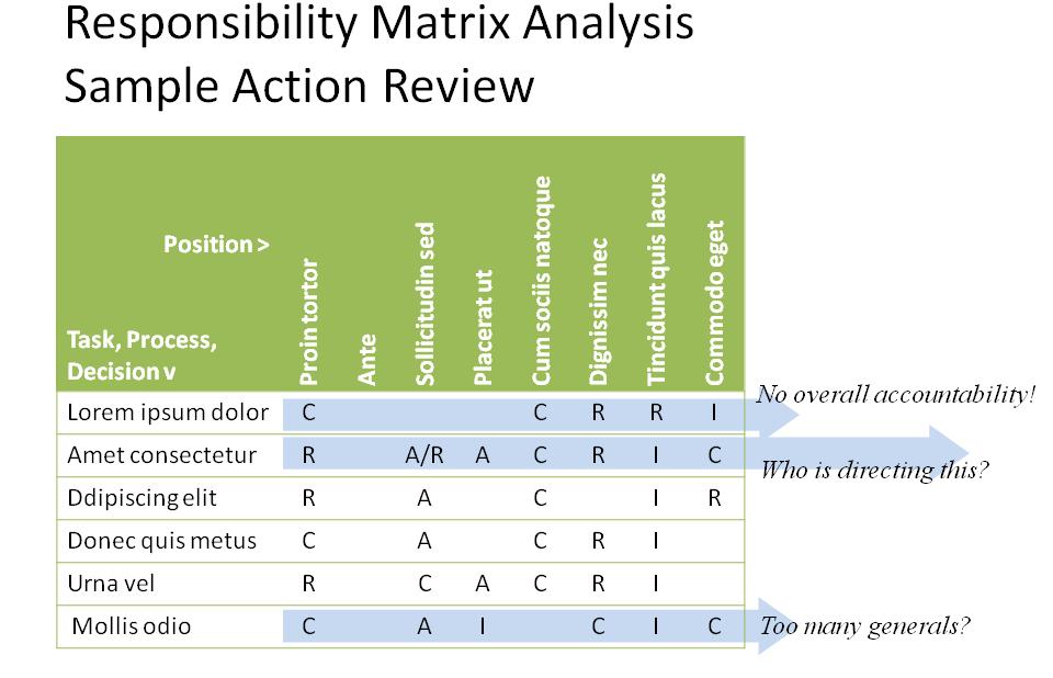 Task Responsibility Matrix Template Responsibility